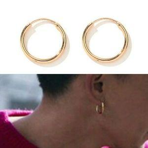 Other - 14K Men's Gold Hoop Earrings